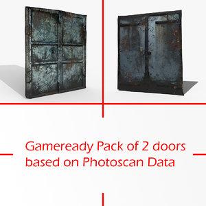 gameready pack doors photoscan 3D model