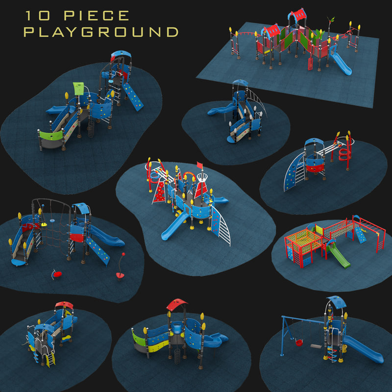 playgrounds 10 piece set model