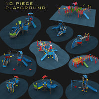 Outdoor Playground Collection 10 piece Set