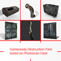 3D gameready destruction pack photoscan