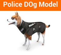 police german shepherd dog 3D model