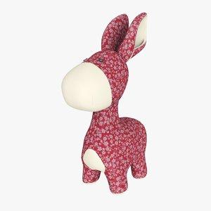 plush donkey 3D model