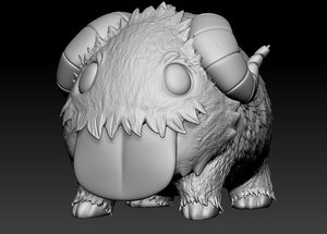 3D league legend poro print