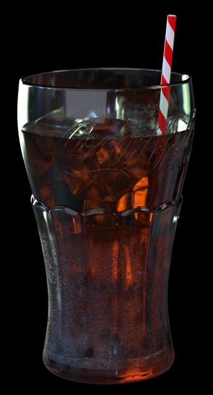 3D model coca cola glass