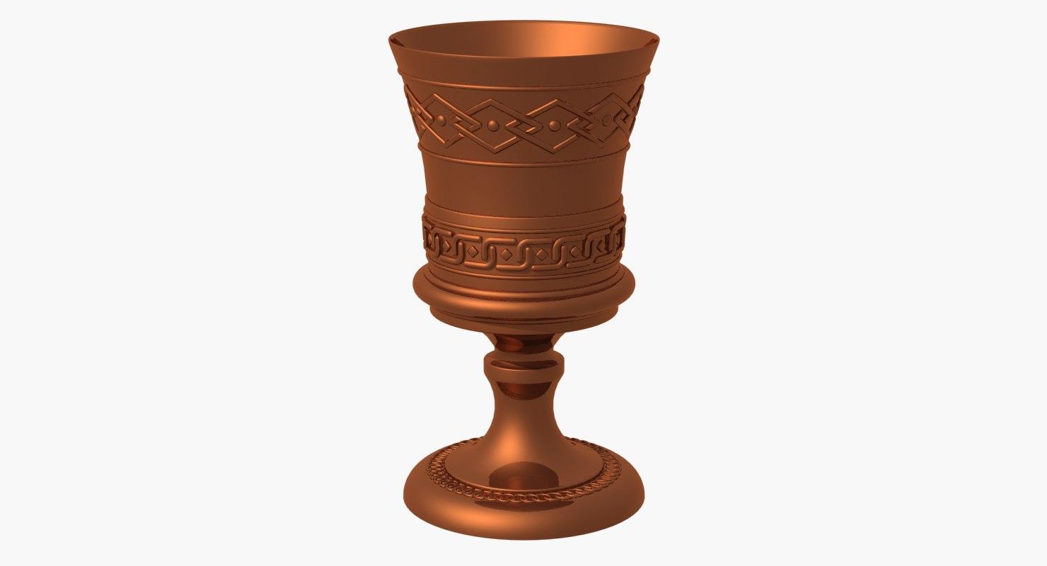 3D bronze goblet