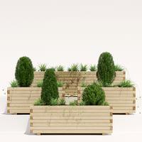 3D pine planter