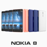 nokia 8 colors 3D model