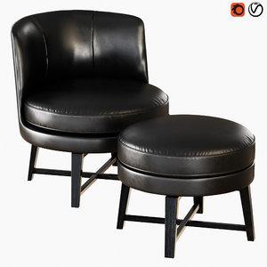 armchair flexform feel good 3D