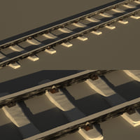 rails snow 3D model