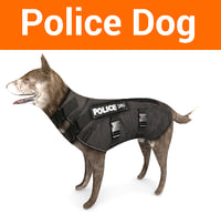 3D police german shepherd dog