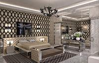 visionnaire interior bedroom scene 3D