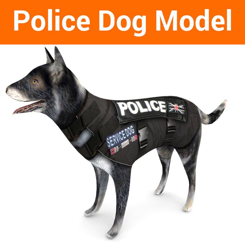 police german shepherd dog 3D model