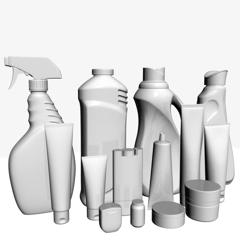 3D model tubes jar bottle