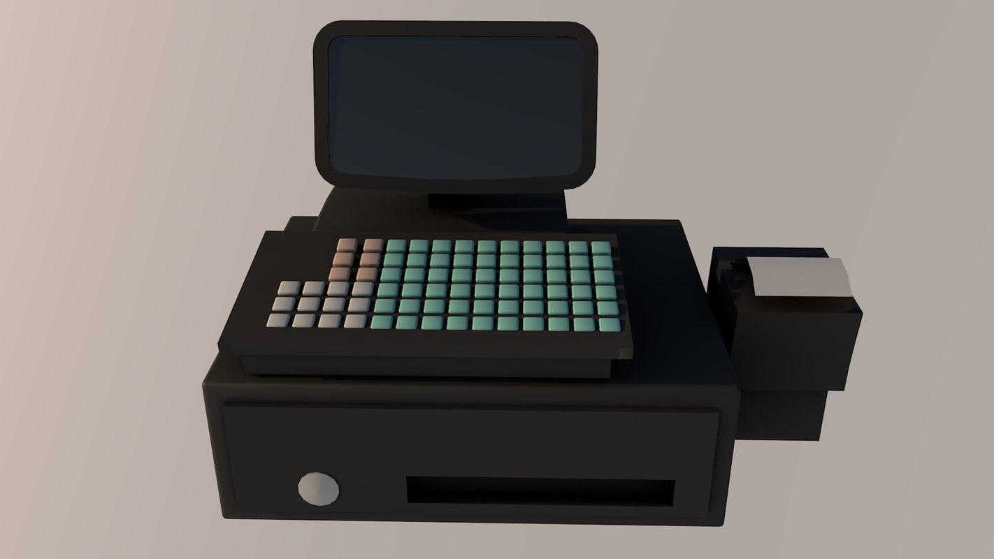 3D cash desk model