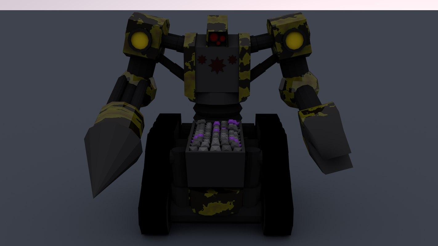 3D model mining robot