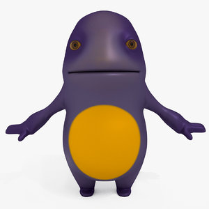 monster cartoon sweetie 3D model