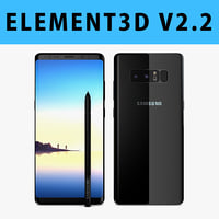 E3D - Samsung Galaxy Note 8 Midnight Black