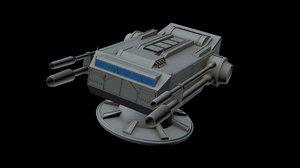 spaceship laser canon 3D