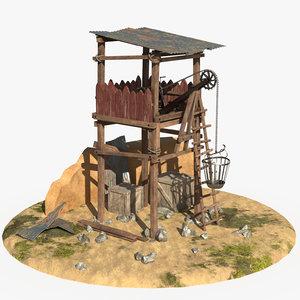 3D model watchtower watch tower