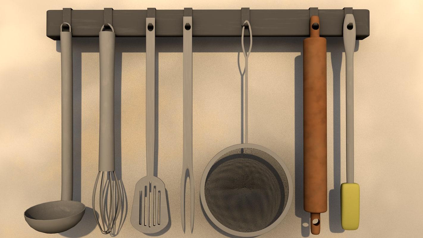 kitchen tools 3D