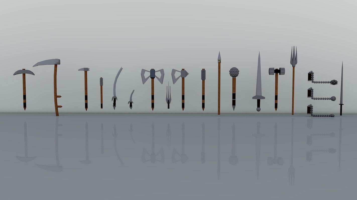 3D weapons model