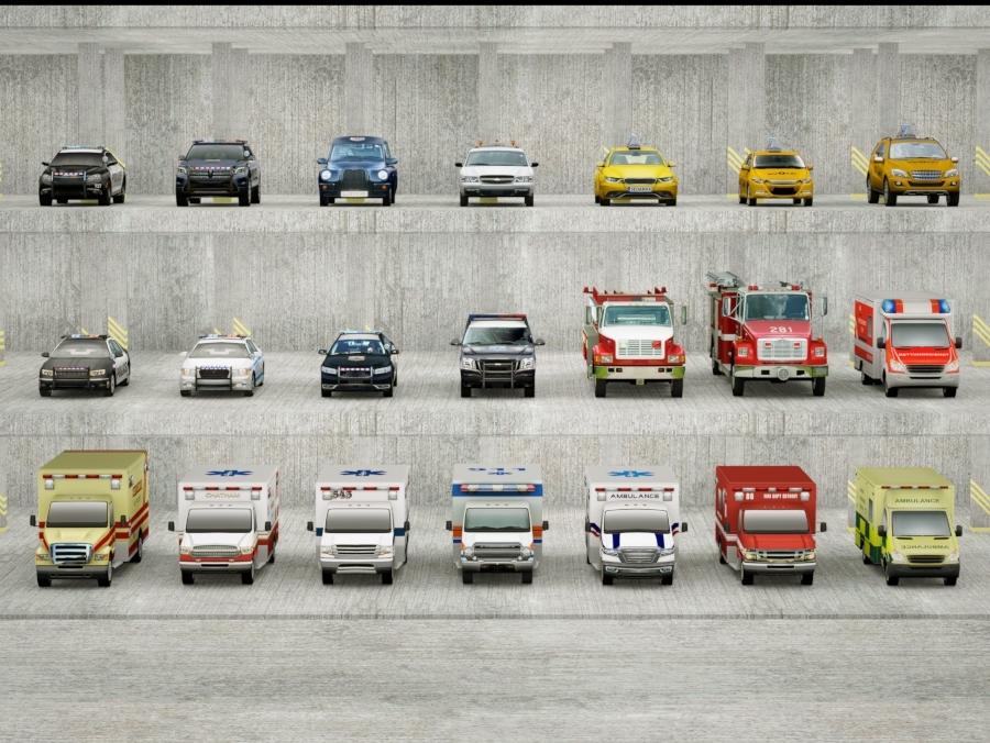 21 social cars brands 3D model