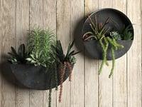 orbea zinc wall planters 3D