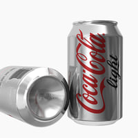 3D model coca-cola light