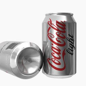 3D model coca-cola light