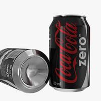 coca-cola zero 3D model