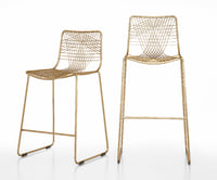 Alpha brass bar stools