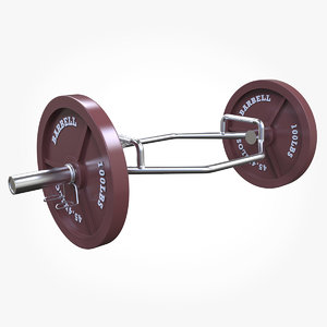3D cap barbell olympic 2-inch