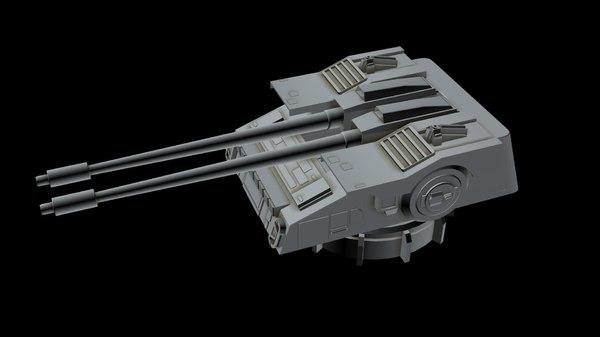 spaceship laser canon 2 3D