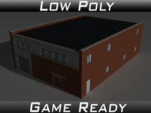 3D model factory building 27