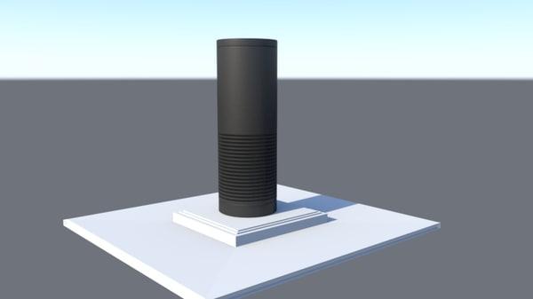 3D amazon echo model