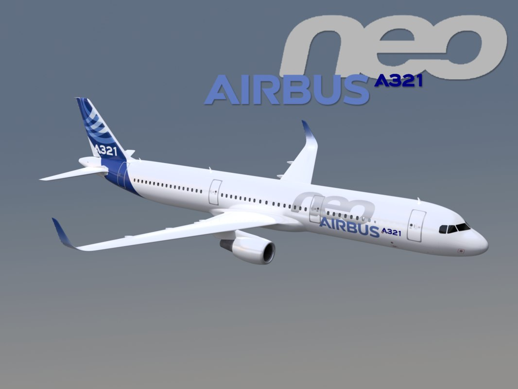 3D model airbus a321neo