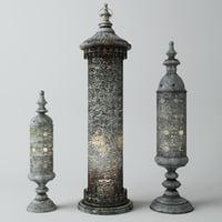 cylinder lanterns 3D model