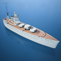3d Model Battle Ship - HMS Nelson