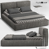 flexteam slim bed 3D model