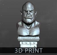 3D model orc head print