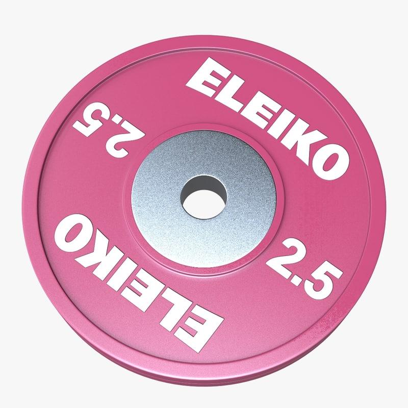 eleiko weightlifting technique disc 3D model
