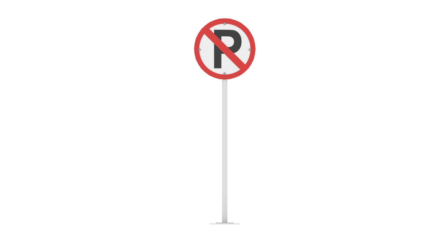 3D traffic parking prohibited