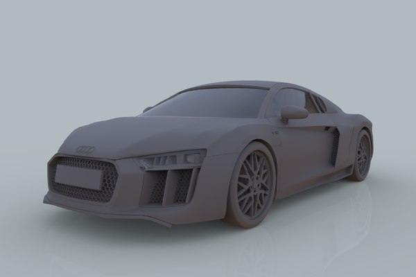 3D model audi r8 coupe