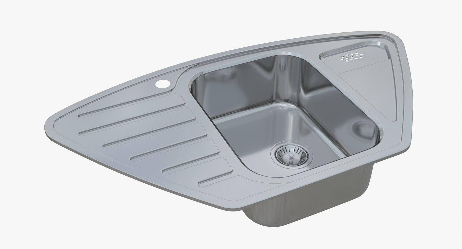 3D model sink blanco lantos 9e - TurboSquid 1195409