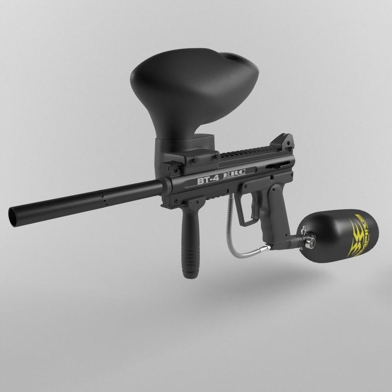 3D model paintball marker bt-4 erc