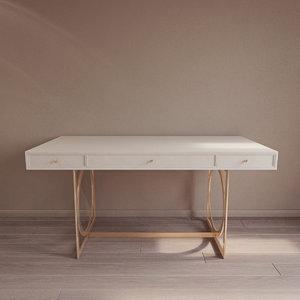 3D salon desk 341-510 bernhardt