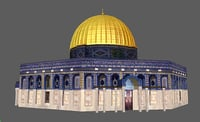 3D model rock jerusalem aqsa