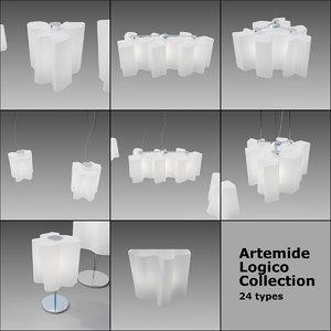 3D lamps logico artemide