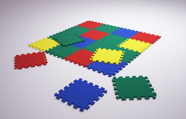 puzzle mat 3D model