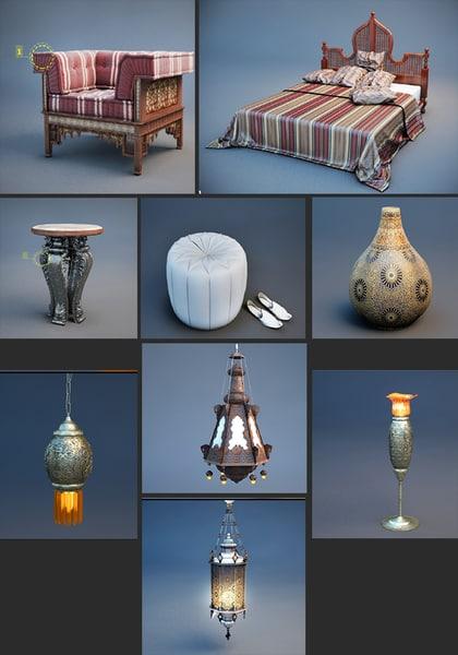 3D interior components lighting